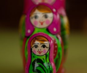 Stock Photo Exquisite and beautiful Russian matryoshka 12