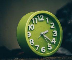 Stock Photo Green alarm clock