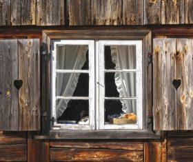 Stock Photo Old wooden window