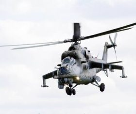 Stock Photo Soviet combat helicopter