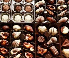 Stock Photo Sweet silky chocolate 04