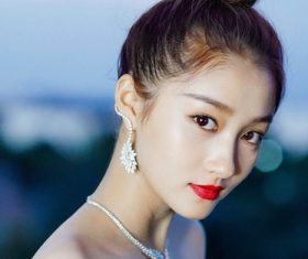 Stock Photo Temperament charming Asian girl