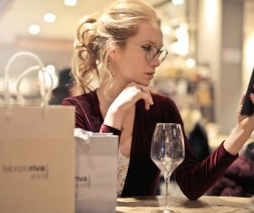 Stock Photo Woman looking at cell phone 09