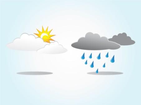 Sun Rain Clouds vector