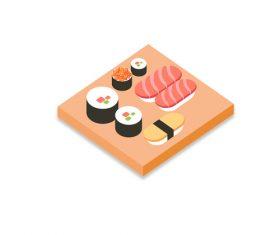 Sushi food vector material