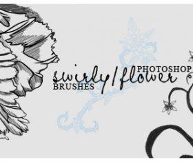 Swirly Flower Photoshop Brushes