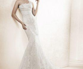 Tall and slender wedding model Stock Photo
