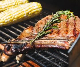 Tasty fragrant steak Stock Photo 08