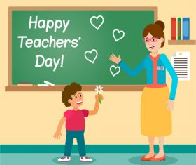 Teachers day vector illustration