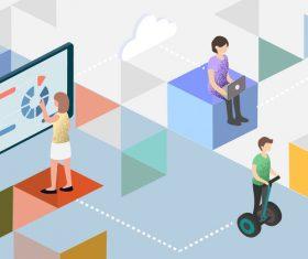 Tech life digital smart vector illustration