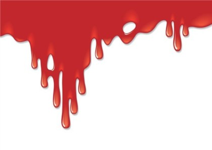 Terrorist blood Funny background vector
