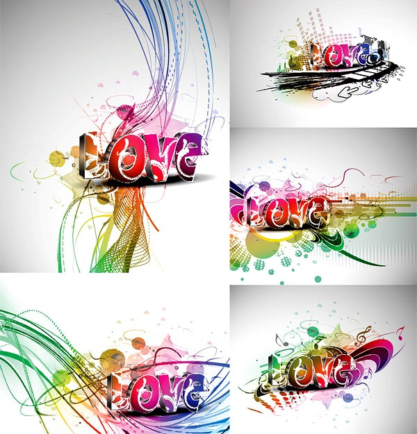 The Different stereo LOVE word vector