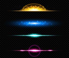 Transparent light effect vector illustration 02