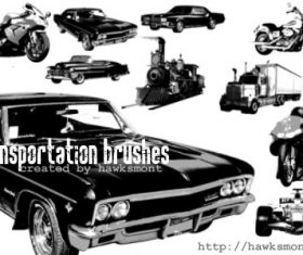 Transportation Photoshop Brushes