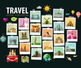 Travel with photo vector illustration