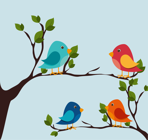Tree Branch With Birds Cartoon Vector 01 Free Download Here you can explore hq cartoon tree transparent illustrations, icons and clipart with filter setting like size, type, color etc. tree branch with birds cartoon vector