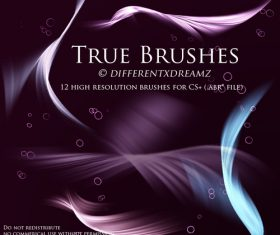 True Abstract Photoshop Brushes