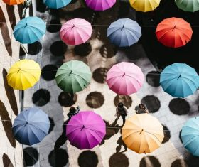 Umbrella Street Stock Photo