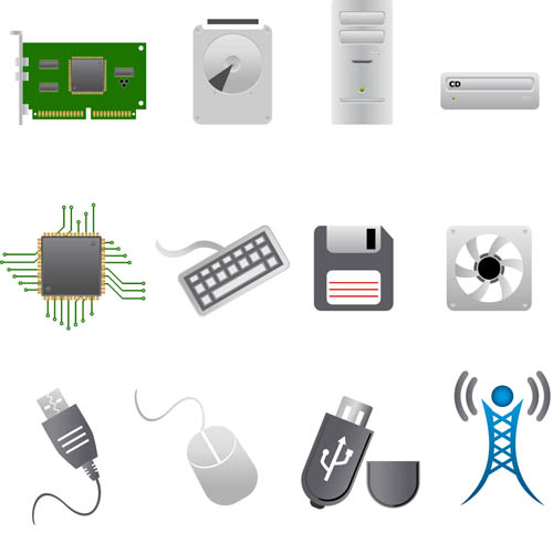 Various Computer Icons 1 vector