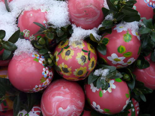 Various painted beautiful Easter eggs Stock Photo 01
