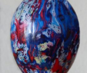 Various painted beautiful Easter eggs Stock Photo 10