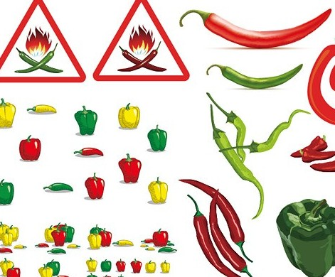 Various pepper vector