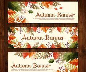 Vector autumn propaganda banner