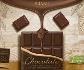Vector chocolate poster template design 02