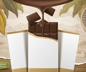 Vector chocolate poster template design 04