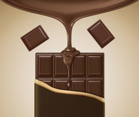 Vector chocolate poster template design 05