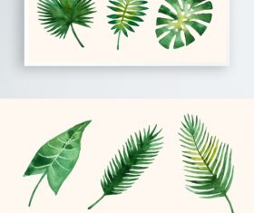 Vector green leaves decorative pattern