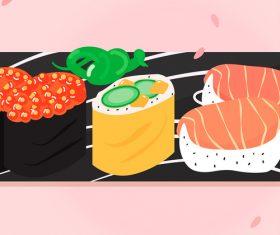 Vector illustration gourmet sushi