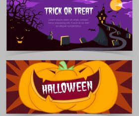 Vector illustration halloween event promotion banner