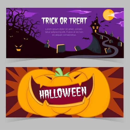 Vector illustration halloween event promotion banner