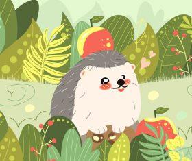 Vector illustration hedgehog