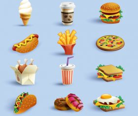 Vector material fast food icon