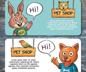 Vector pet shop poster