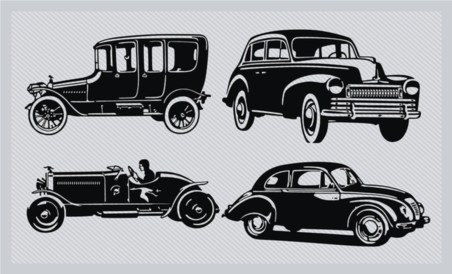 Vintage Car Silhouette Pack vector graphics