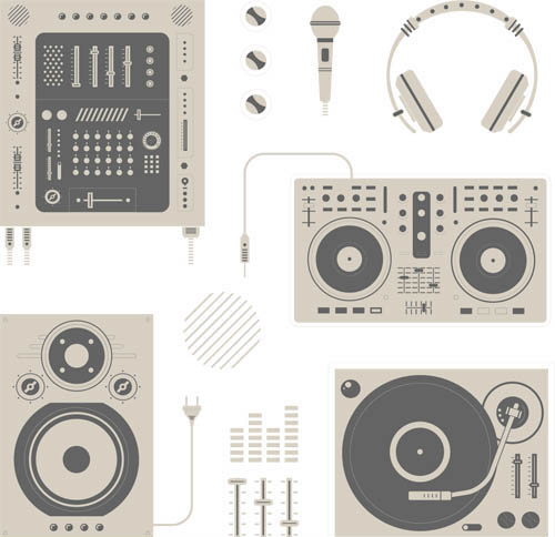 Vintage Music Icons vector