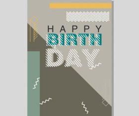 Vintage birthday flyer template design vector 18