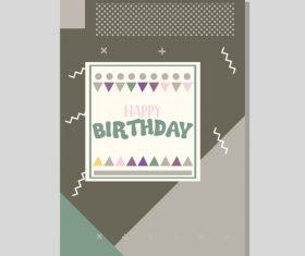 Vintage birthday flyer template design vector 19