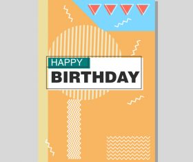 Vintage birthday flyer template design vector 21