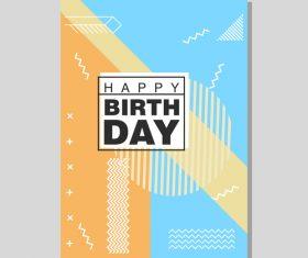 Vintage birthday flyer template design vector 22