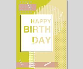 Vintage birthday flyer template design vector 24