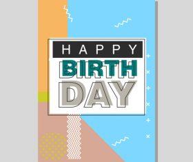 Vintage birthday flyer template design vector 25