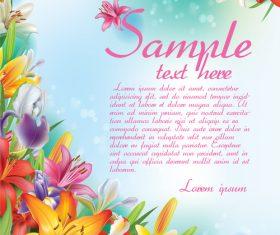 Vintage floral card template vectors design 01