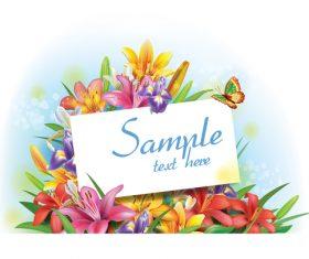 Vintage floral card template vectors design 02