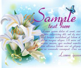 Vintage floral card template vectors design 05