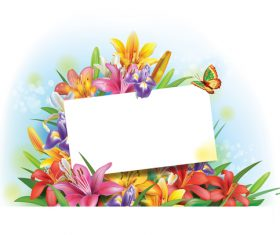 Vintage floral card template vectors design 06