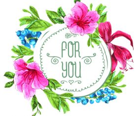 Vintage floral card template vectors design 08